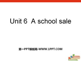 《A School Sale》PPT