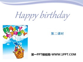《Happy birthday》PPT�n件