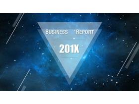 蓝色浩瀚星空背景的商务PPT模板免费下载