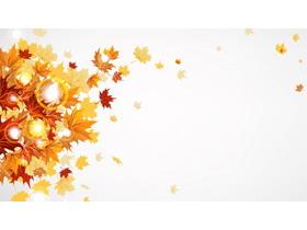 秋天的枫叶PPT背景图片