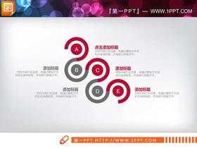 简洁红灰扁平化PPT图表大全