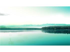 两张雅致湖光山色自然风景PPT背景图片