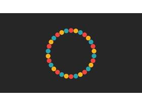 螺旋旋�D的彩色小球PPT�赢�特效下�d