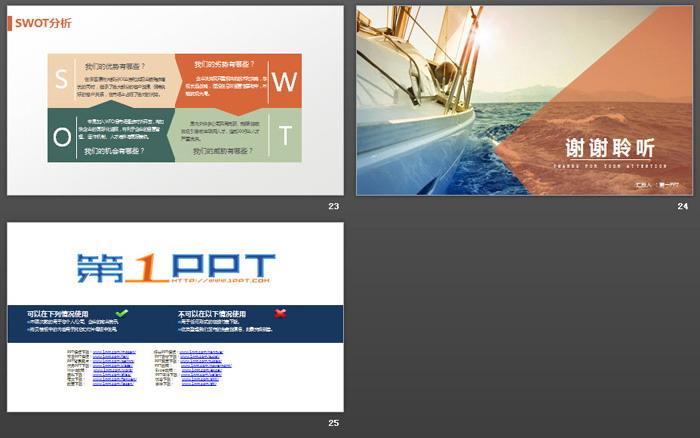 扬帆起航背景的商业融资计划书PPT模板