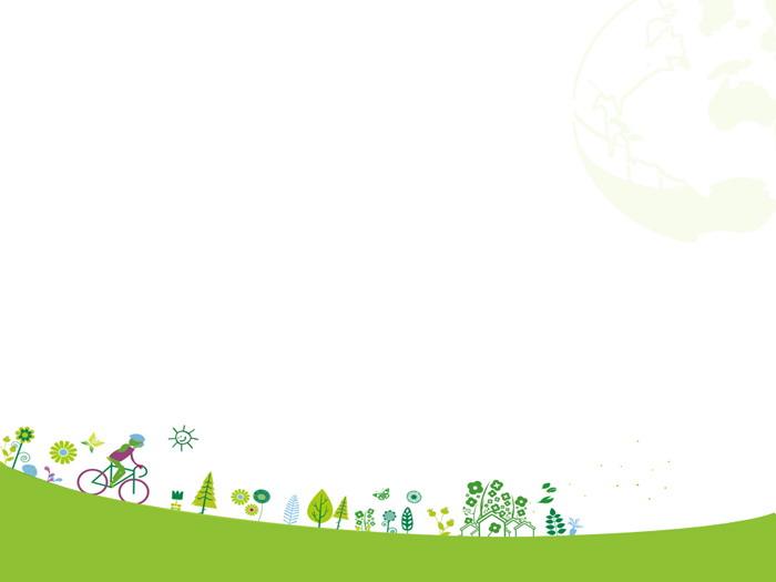 两张绿色卡通环保主题幻灯片背景图片 - 第一ppt