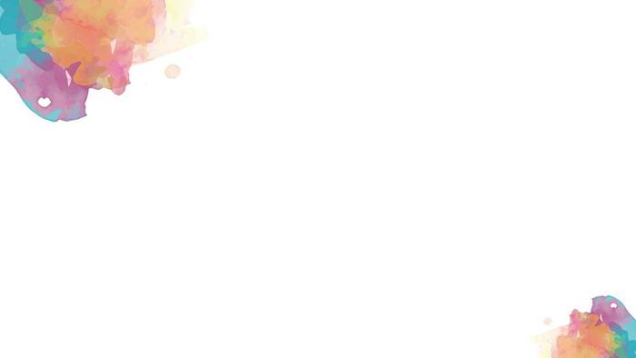 三张彩色轻快水彩晕染PPT背景图片