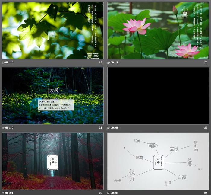 图片排版设计的《中国二十四节气》PPT下载