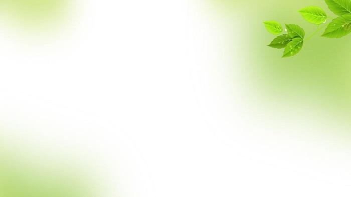 淡雅綠色樹葉powerpoint背景圖片 - 第一ppt圖片