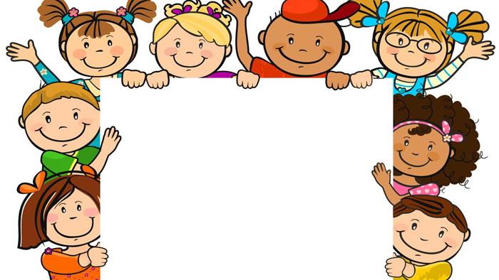 两张可爱卡通儿童PPT背景图片