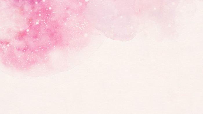 两张粉色唯美手绘樱花PPT背景图片