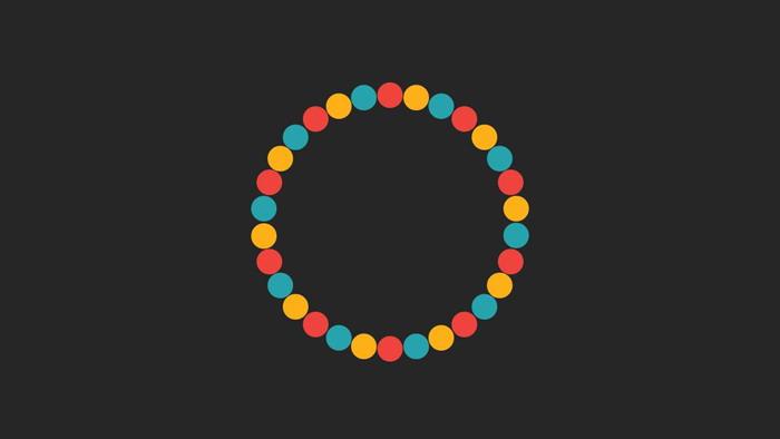 螺旋旋转的彩色小球PPT动画特效下载