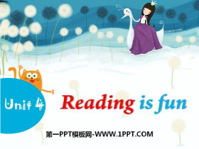 《Reading is fun》PPT�n件