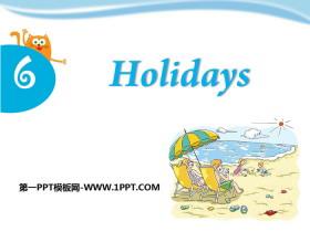 《Holidays》PPT