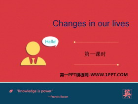 《Changes in our lives》PPT