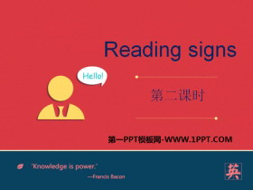 《Reading signs》PPT�n件