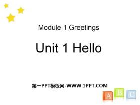 《Hello!》PPT课件免费下载