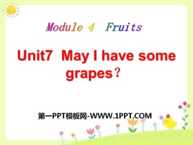 《May I have some grapes?》PPT课件