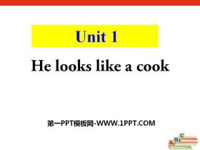 《He looks like a cook?》PPT