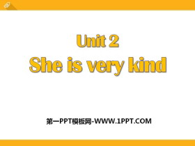 《She is very kind》PPT