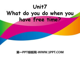 《What do you do when you have free time?》PPT�n件