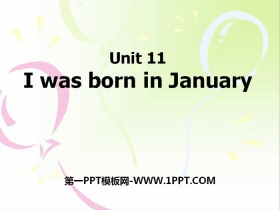 《I was born in January》PPT