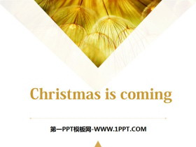 《Christmas is coming》PPT�n件