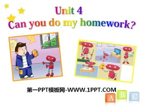 《Can you do my homework》PPT课件