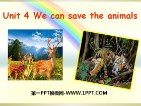 《We can save the animals》PPT�n件