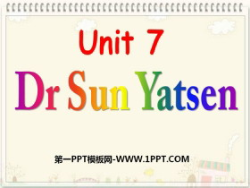 《Dr Sun Yatsen》PPT�n件