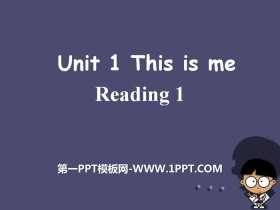 《This is me》readingPPT