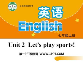 《Let's play sports》PPT