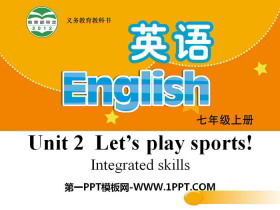 《Let's play sports》Integrated skillsPPT