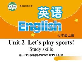 《Let's play sports》Study skillsPPT
