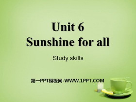 《Sunshine for all》Study skillsPPT