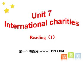 《Intemational charities》ReadingPPT