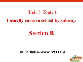 《I usually come to school by subway》SectionB PPT