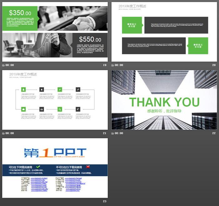 现代化楼群建筑背景的商业融资计划书PPT模板