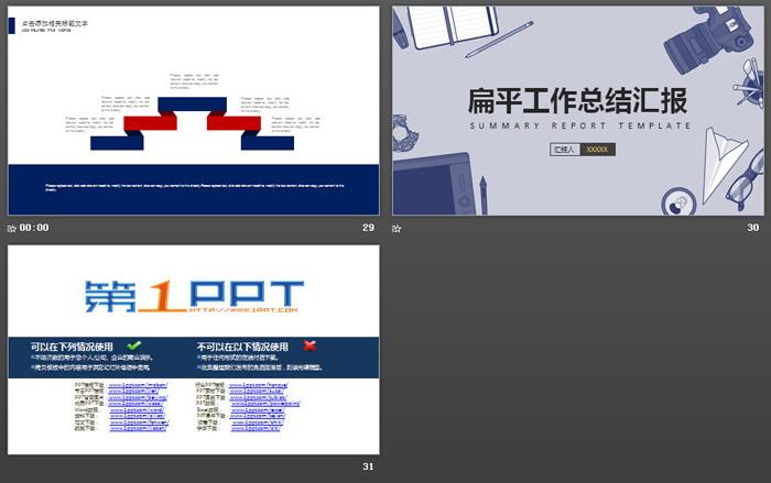 记者摄影行业工作总结汇报PPT模板