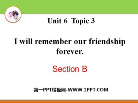 《I will remember our friendship forever》SectionB PPT