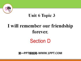 《I will remember our friendship forever》SectionD PPT