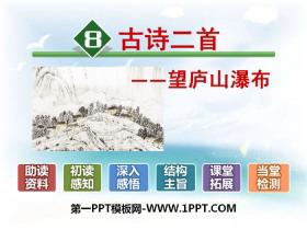 《望庐山瀑布》PPT