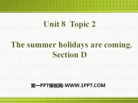 《The summer holidays are coming》SectionD PPT