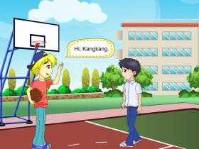 《I'm going to play basketball》SectionA Flash动画课件