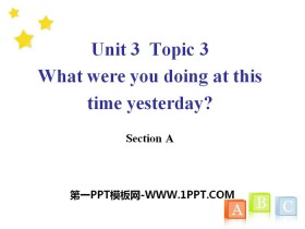 《What were you doing at this time yesterday?》SectionA PPT