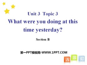 《What were you doing at this time yesterday?》SectionB PPT