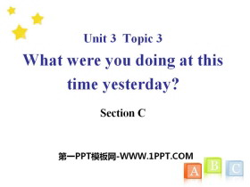 《What were you doing at this time yesterday?》SectionC PPT