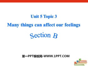 《Many things can affect our feelings》SectionB PPT