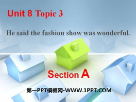 《He said the fashion show was wonderful》SectionA 必发88