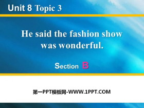 《He said the fashion show was wonderful》SectionB 必发88