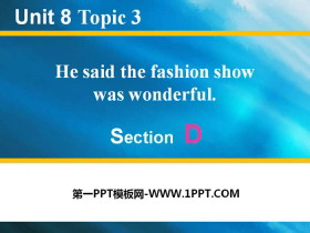 《He said the fashion show was wonderful》SectionD 必发88